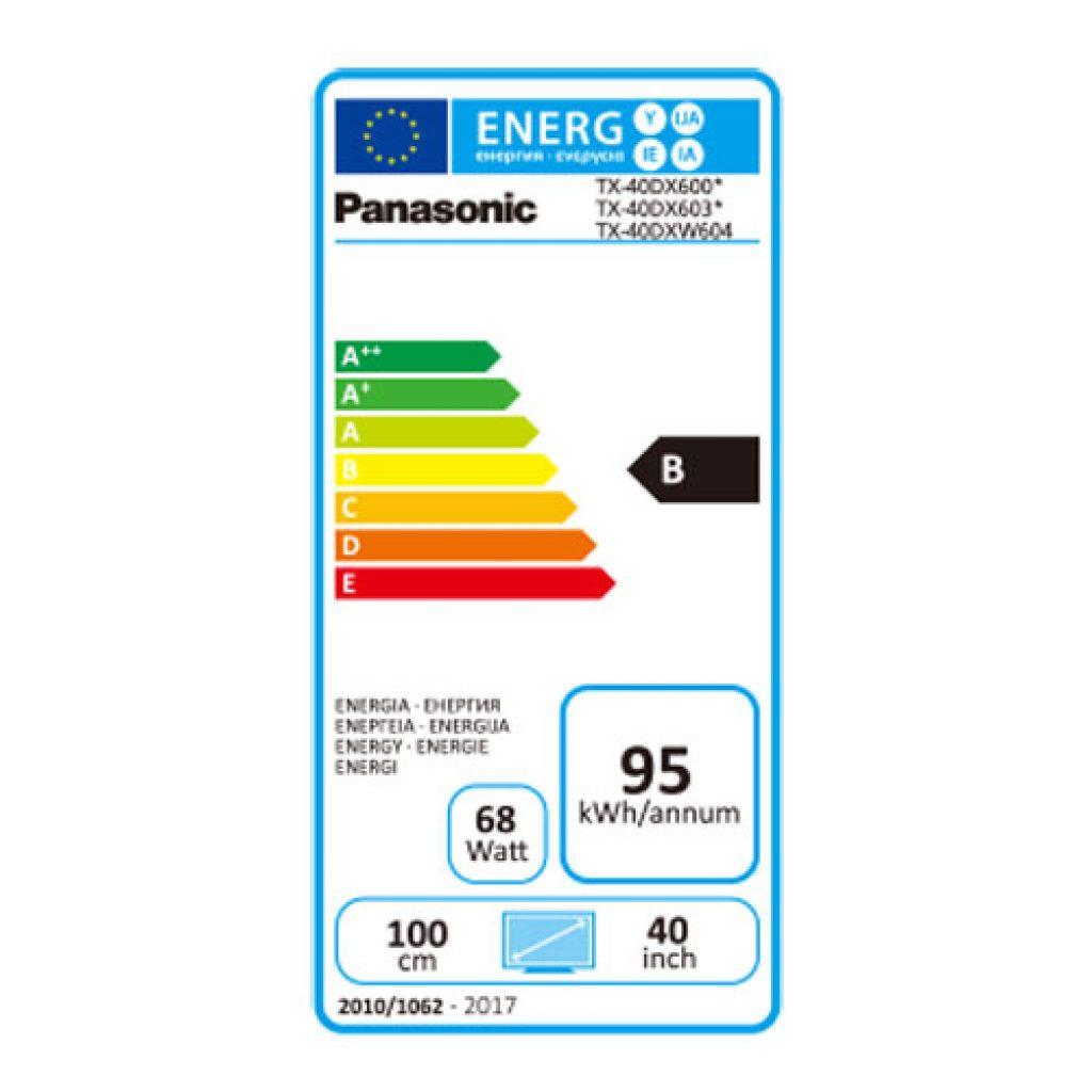 Panasonic TX-40DX600E eficiencia energética