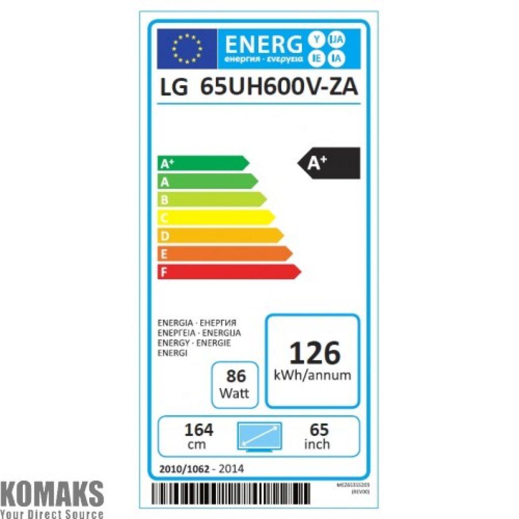 LG 65UH600V eficiencia energética