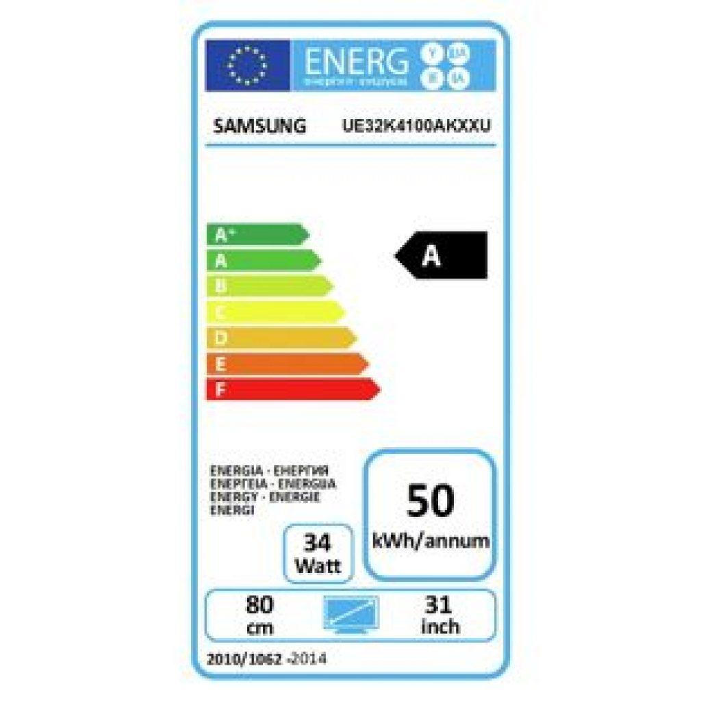 Samsung UE32K4100 eficiencia energética