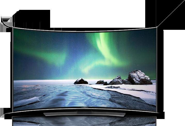 televisores con pantallas curvas