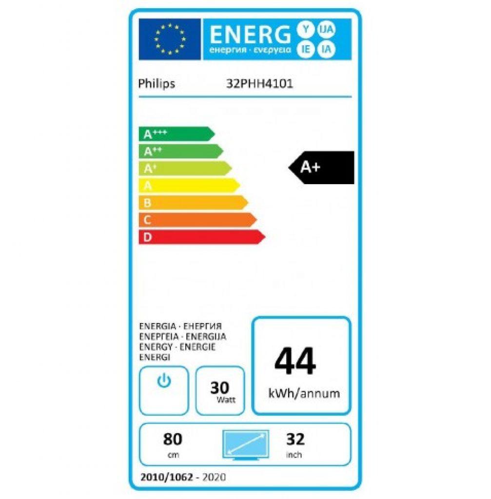 Philips 32PHH4101/88 eficiencia energética