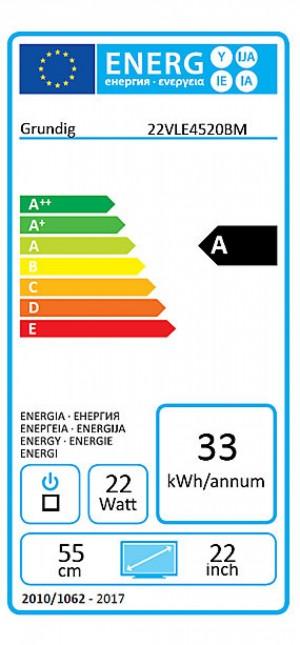 GRUNDIG 22 VLE 4520 eficiencia a