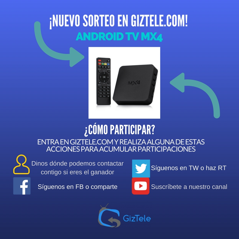 Sorteo Giztele Android TV MX4