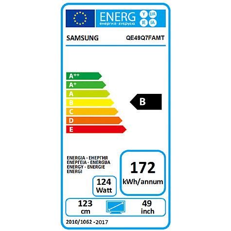 Samsung QE49Q7F energía