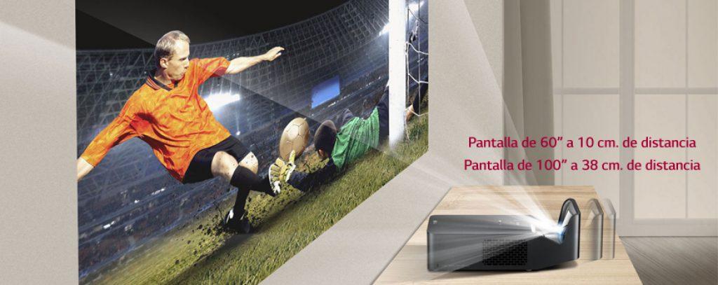LG PF1000U, pantalla