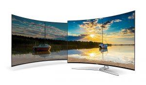 La calidad de imagen se multiplica con el efecto de profundidad que frece el televisor curvo