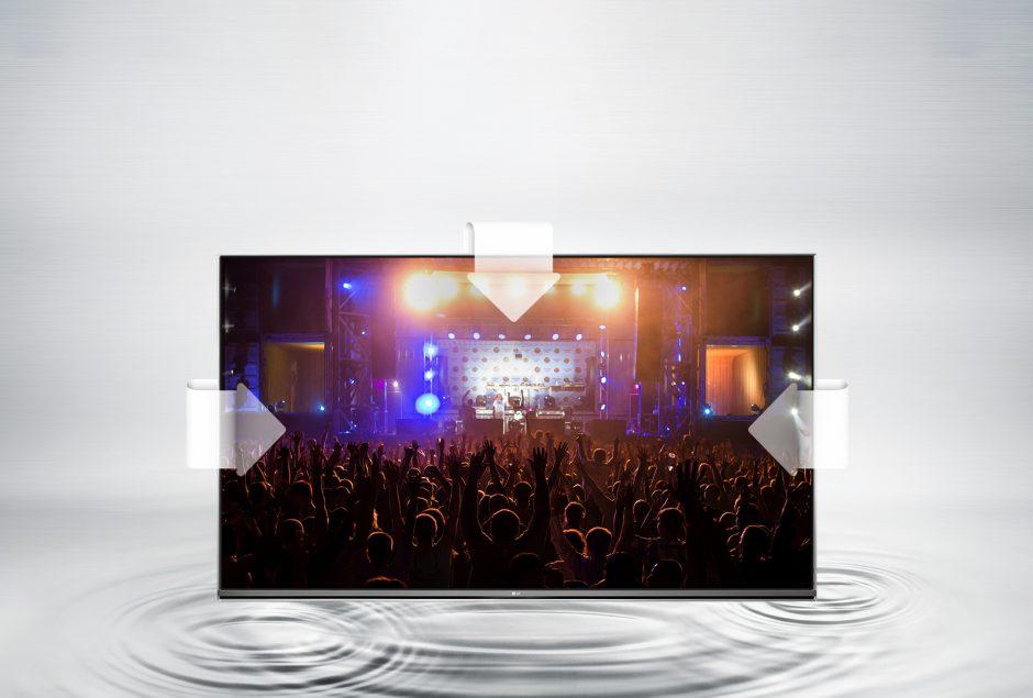 LG 55UH605V. Diseño Ultra Slim, ideal en modo mural. Sistema Ultra Surround de mejora de sonido.