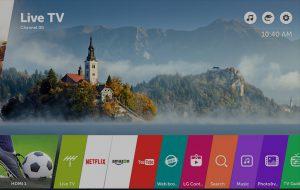 La televisión viene con la última actualización de webOS 3.5