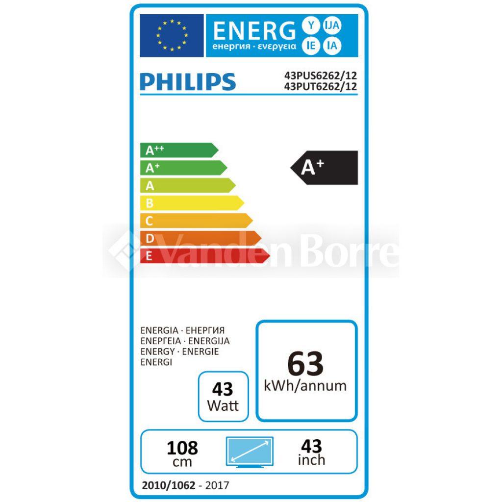 Philips 43PUS6262/12 energía