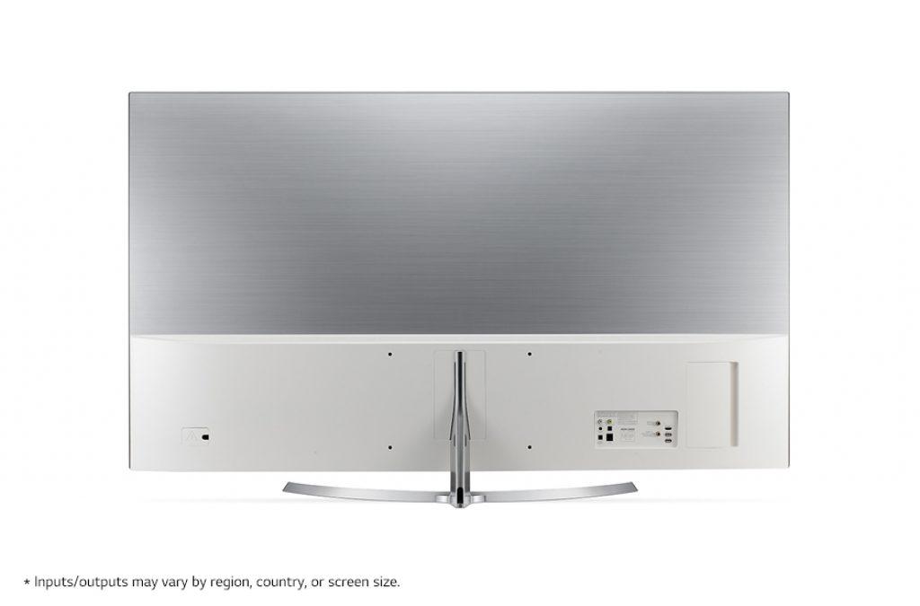 LG 55SJ950V Super UHD 4K con trasera de diseño exclusivo y conexiones mimetizadas.