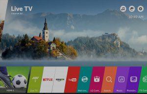 El televisor ofrece el OS de la marca