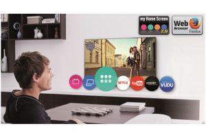 El televisor cuenta con la plataforma inteligente My Home Screen 2.0