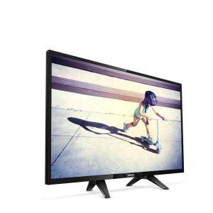 La TV incluye un soporte doble y ligero como patas en forma de V inversa