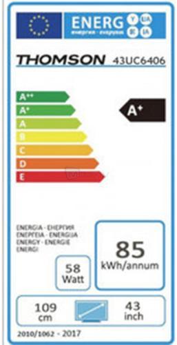 Thomson 43UC6406 eficiencia