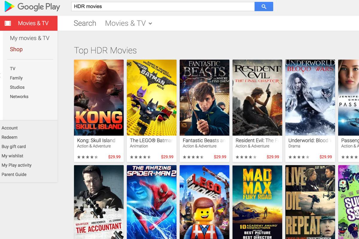 Google Play Movies HDR