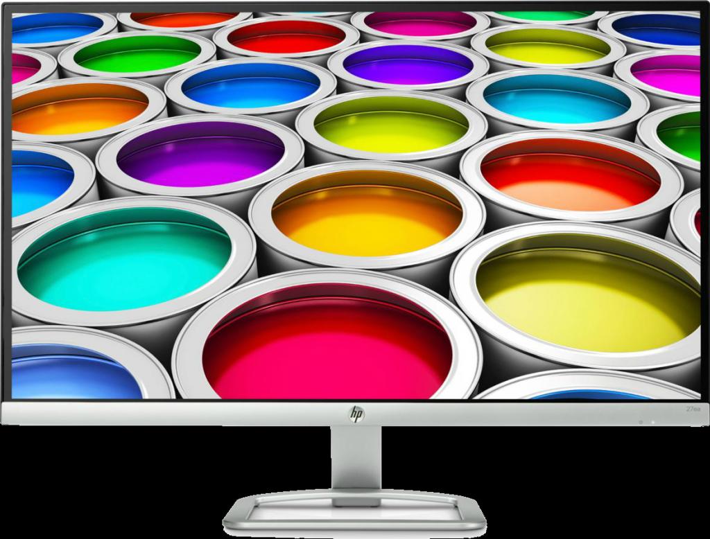 HP 27 ea resolución 1920x1080 píxeles a 60 Hz de frecuencia de refresco.