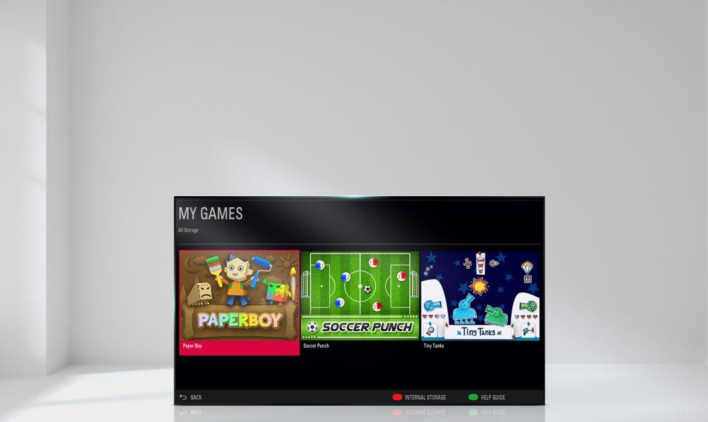 LG 32LJ510B Built-in-Game-TV; juegos de siempre en una tele a caballo entre pasado y presente.