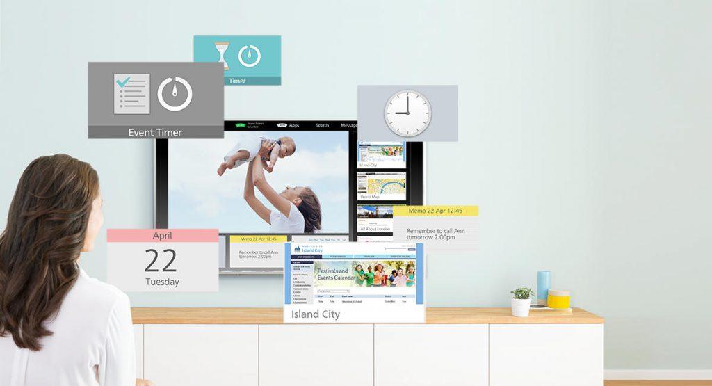 Panasonic TX-40ES510E, con My Home Screen.