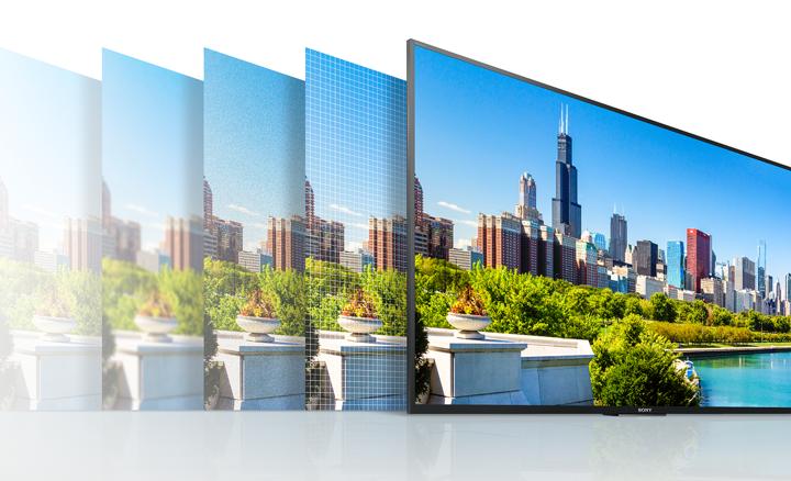 Sony KD55XE7077SAEP con 4K X-Reality Pro para una mayor definición de imagen mejorando individualmente por zonas cada imagen.
