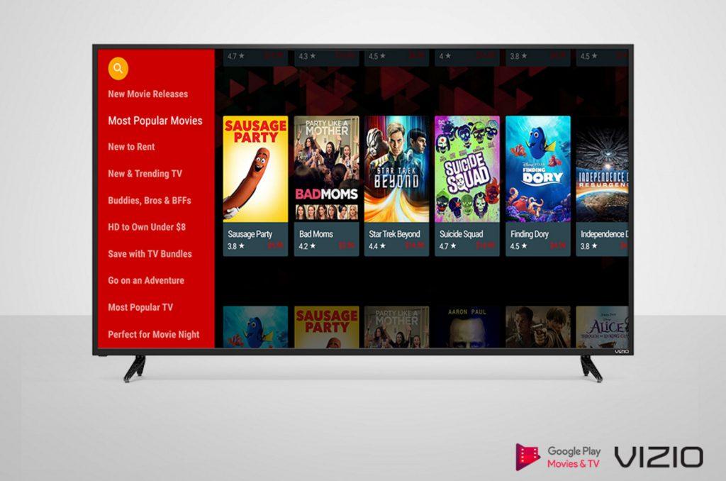 Google Play Movies & TV muy pronto disponible en los televisores Vizio