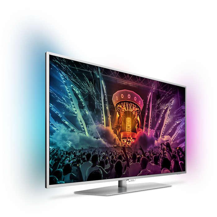 Así luce el televisor con su peana