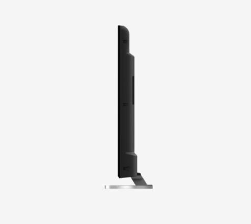 El perfil del televisor es muy básico y algo anticuado