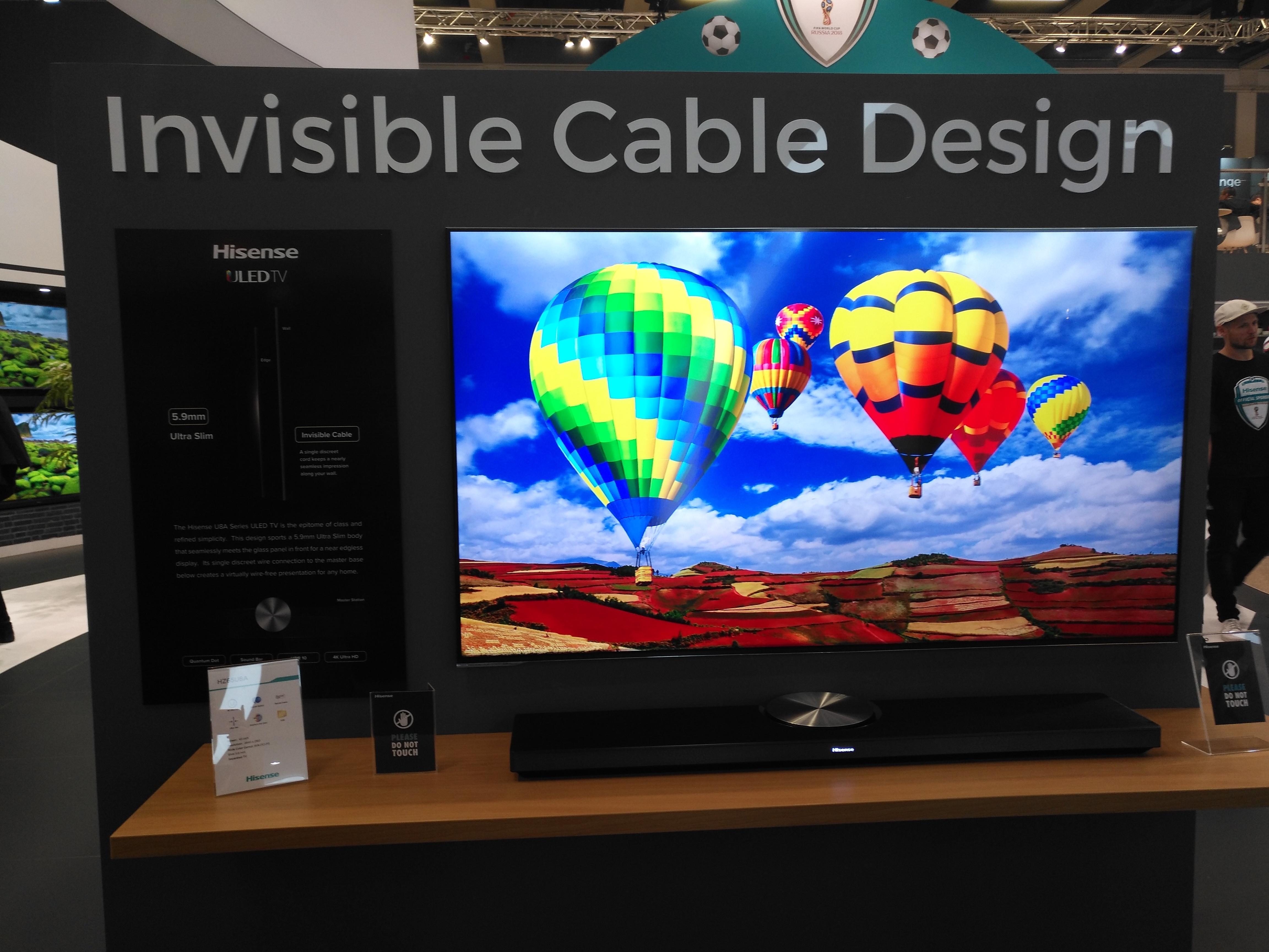 Así quedan los televisores Hisense con diseño Invisible Cable Desing