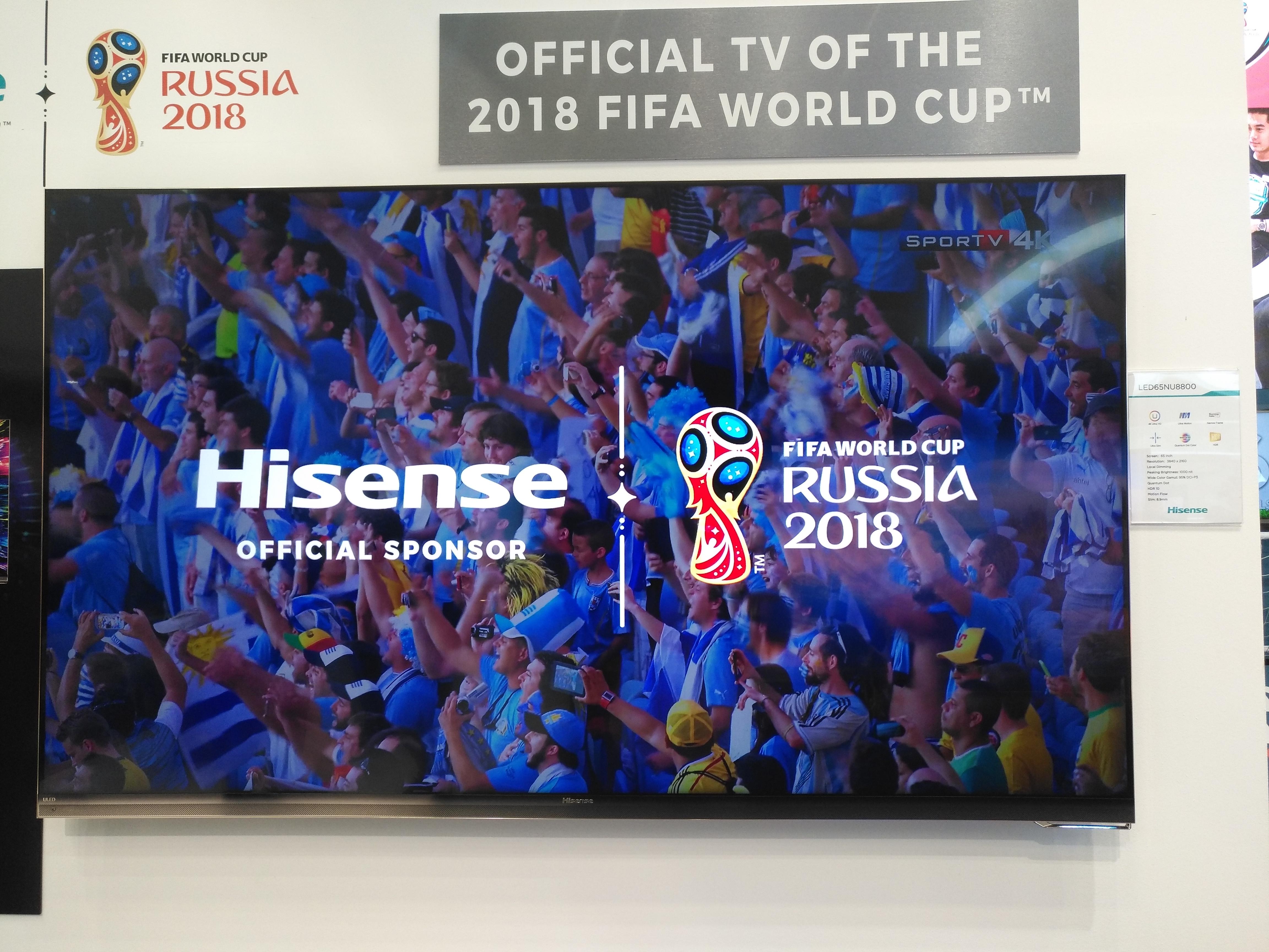 Este es el televisor de la Copa del Mundo 2018