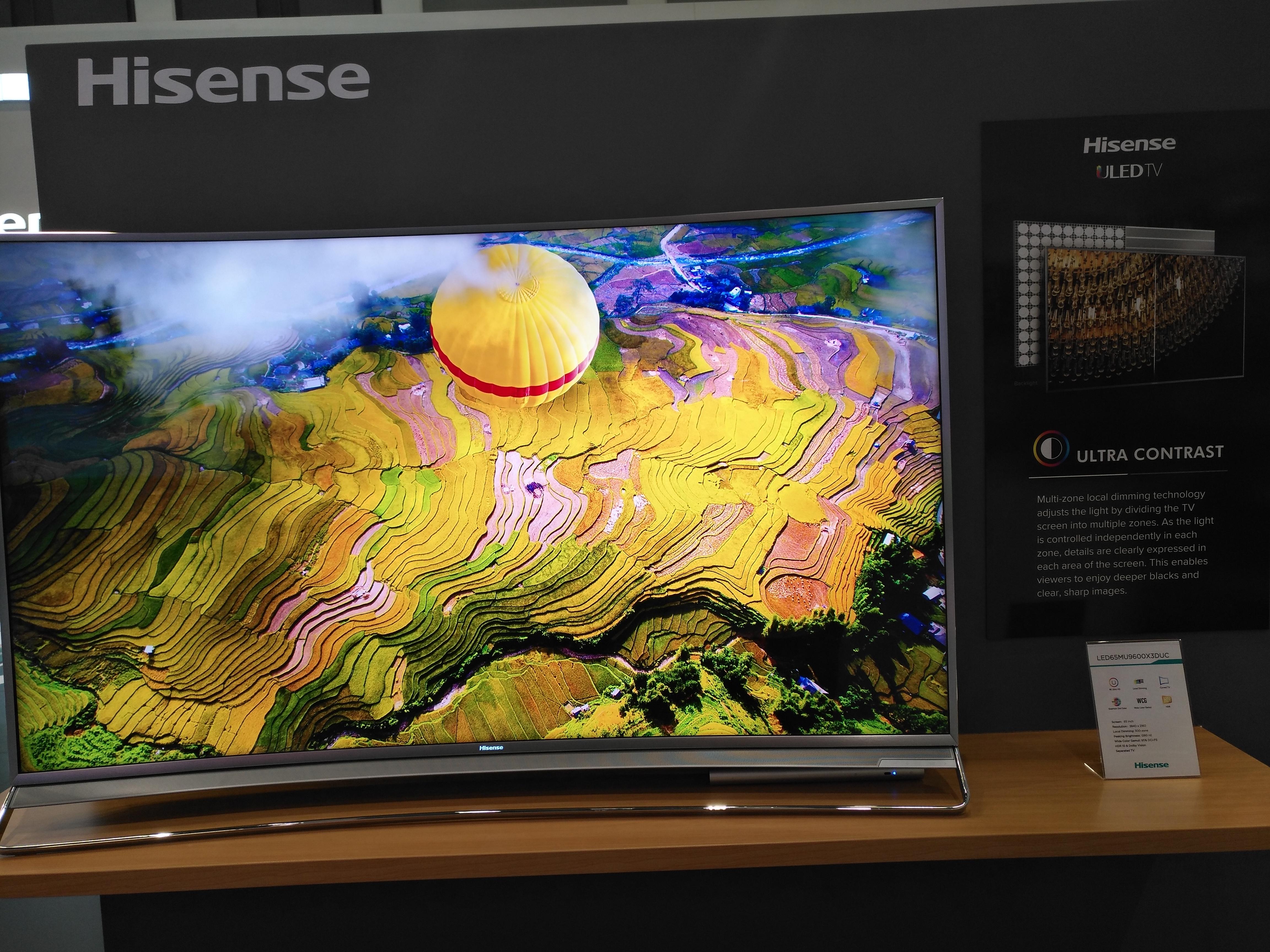 Aquí vemos la calidad Ultra-contrast que ofrece la firma Hisense