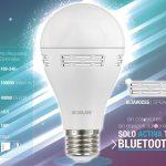bombilla LED con altavoces