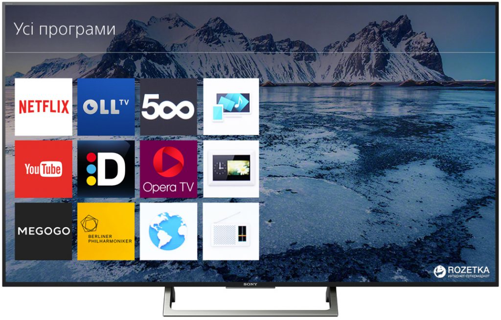Sony KD65XE7096BAEP, 4K UHD con Smart TV Linux, Opera TV, YouTube y Netflix.