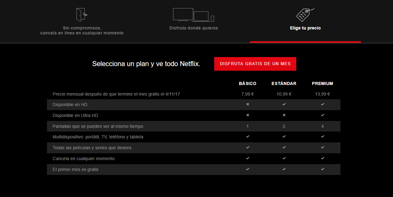 Estos son los nuevos precios de Netflix