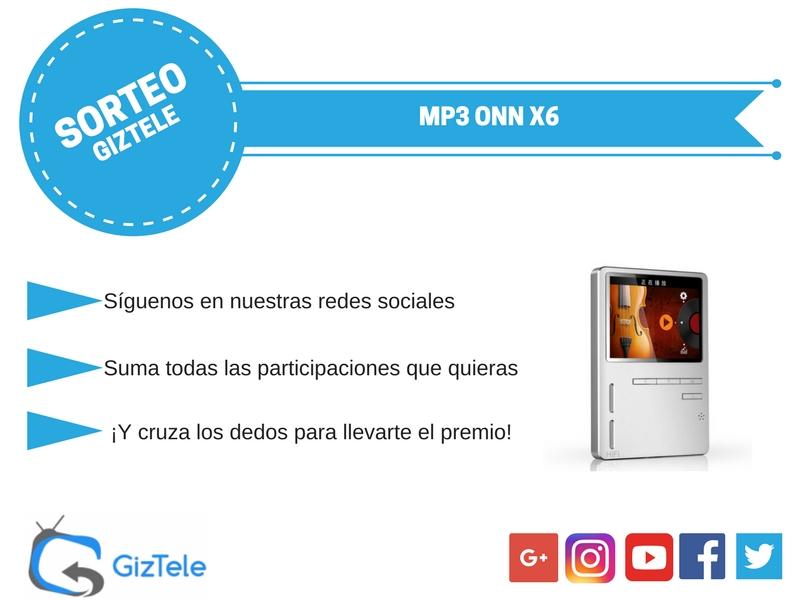 Sorteo MP3 ONN X6