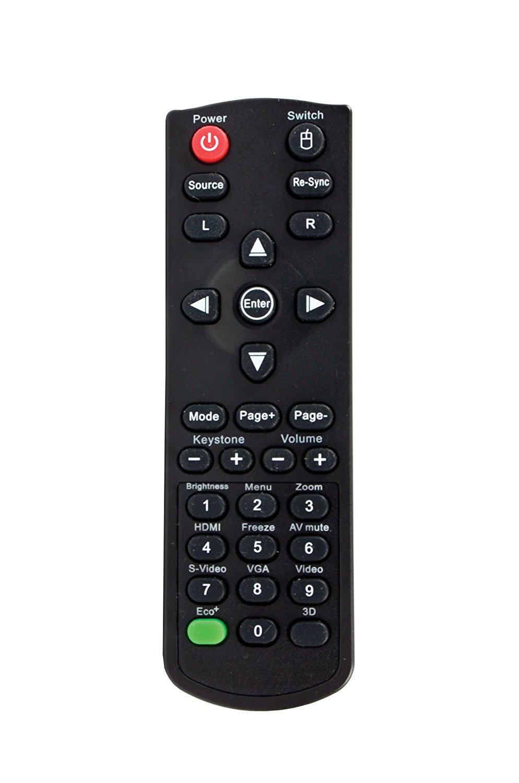 Este es el mando, nada estético ni compatible en cuanto a estilo del Optoma