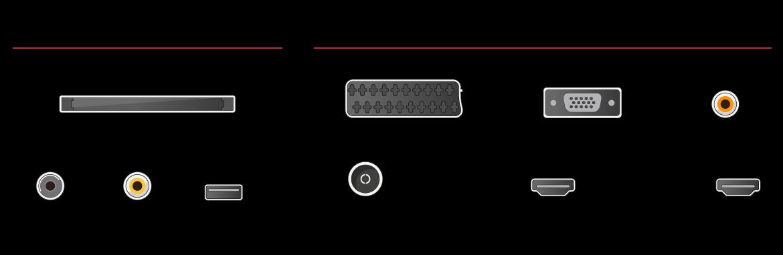 Estas son las conexiones del televisor