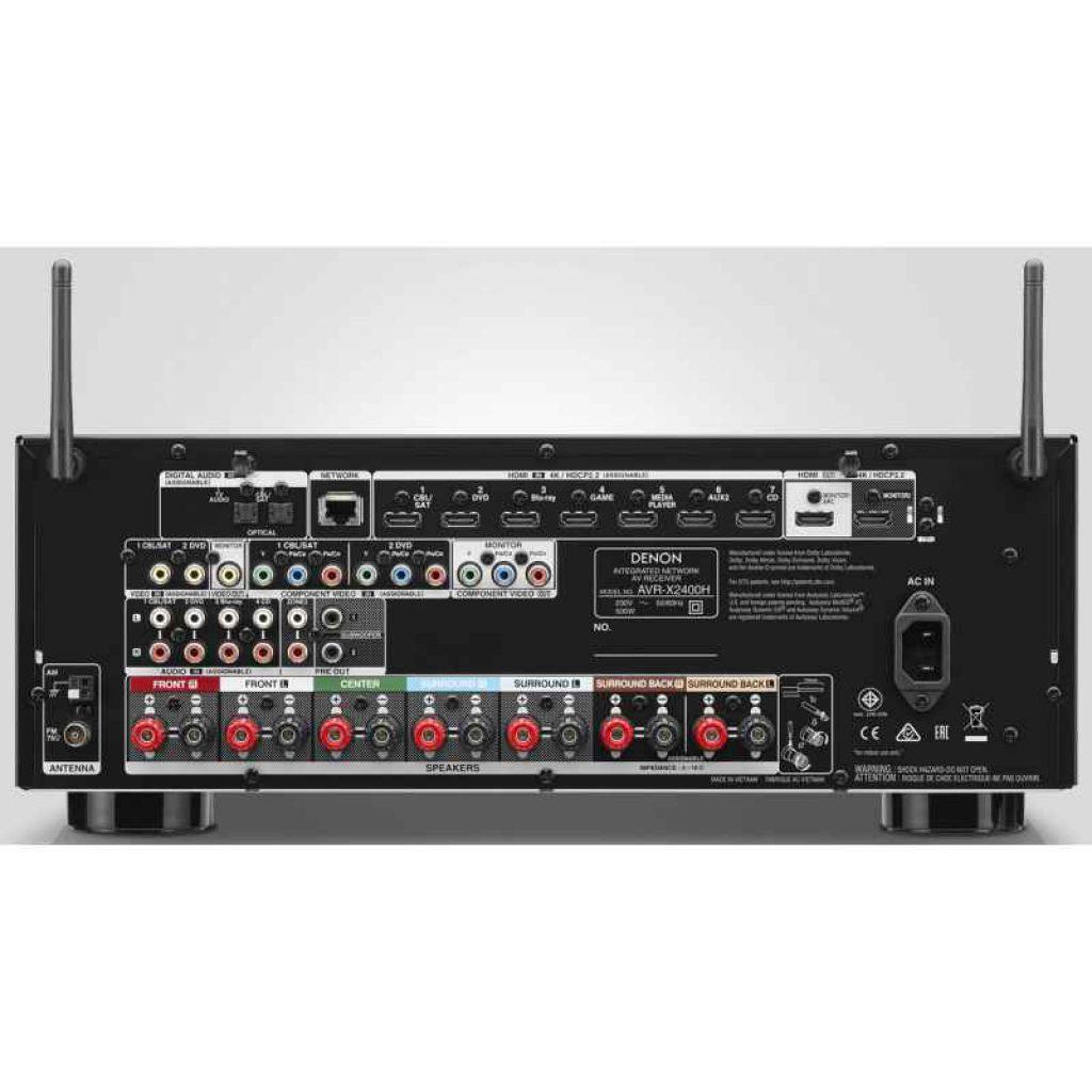Denon AVR-X2400H, instalar