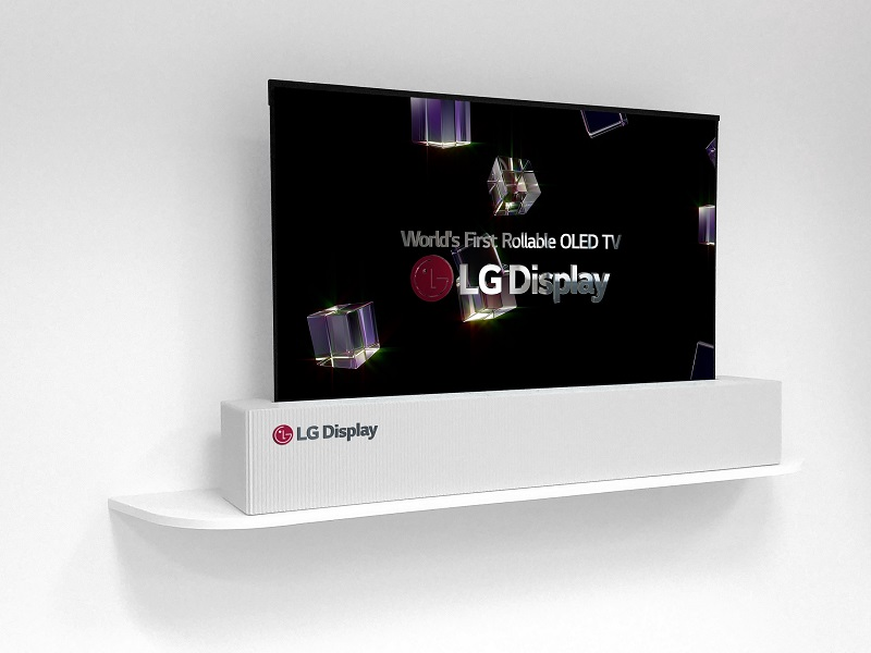 LGD 65-inch UHD rollable OLED display 1