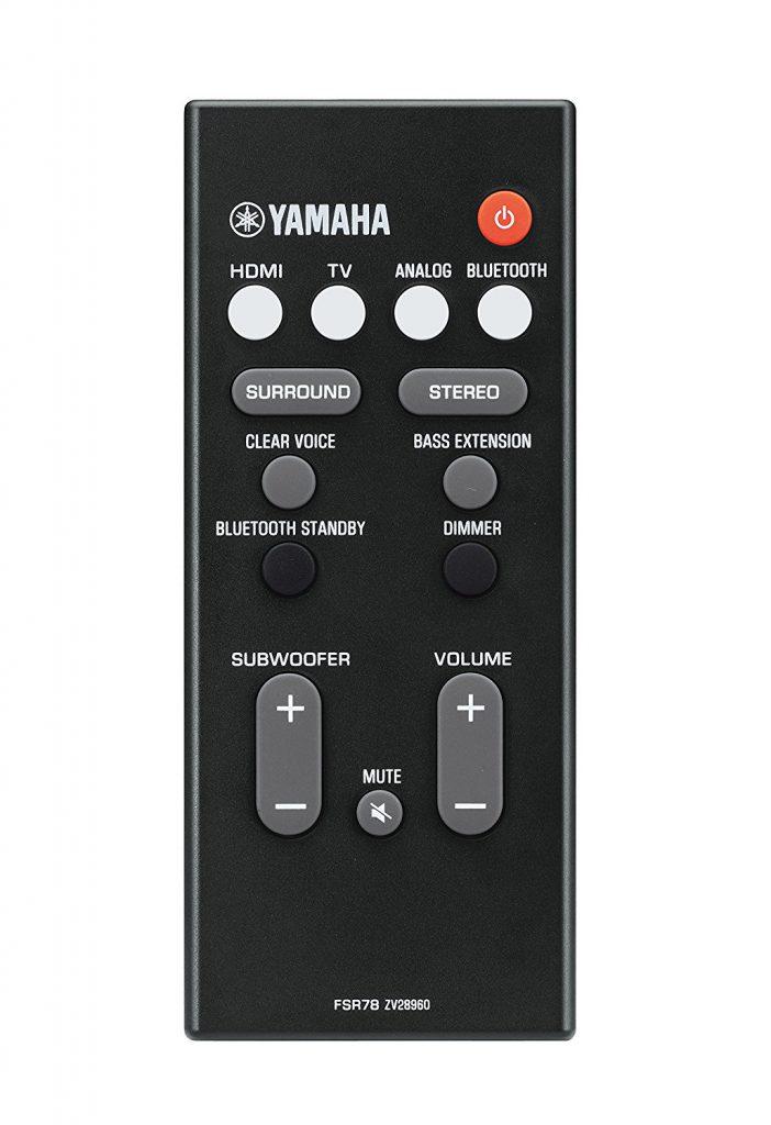 Yamaha Yas-107, control remoto