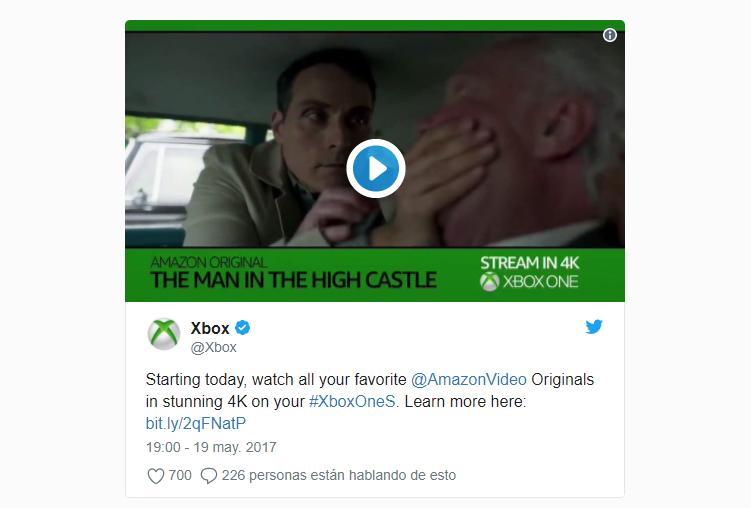 Amazon Prime Video en Xbox One S