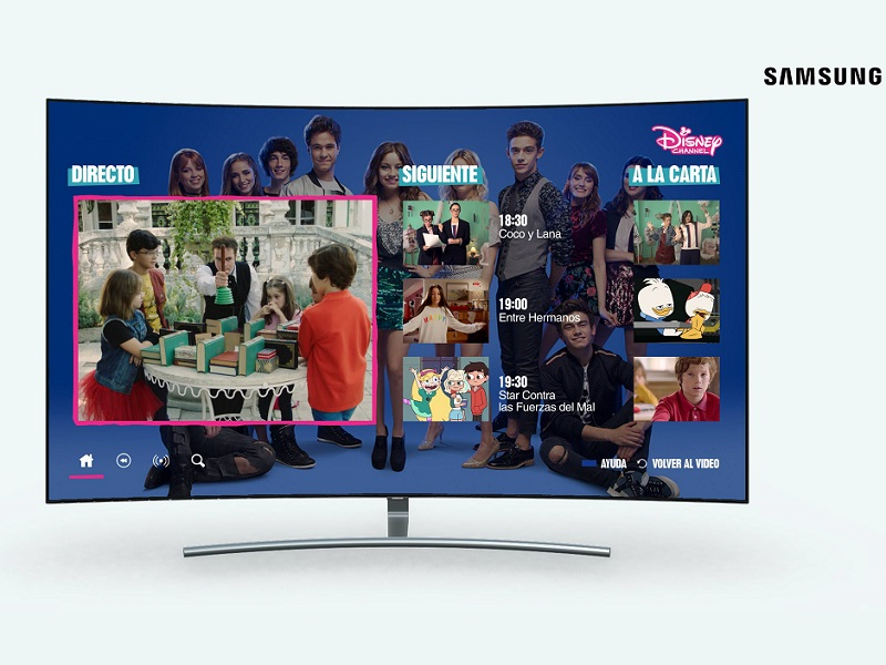 app disney channel en televisores samsung