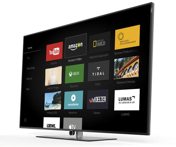 El televisor trabaja con su propio sistema operativo, Loewe OS