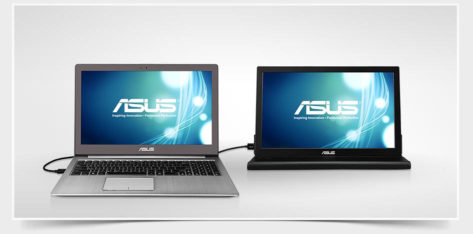 El monitor se conecta cómodamente con un USB 3.0