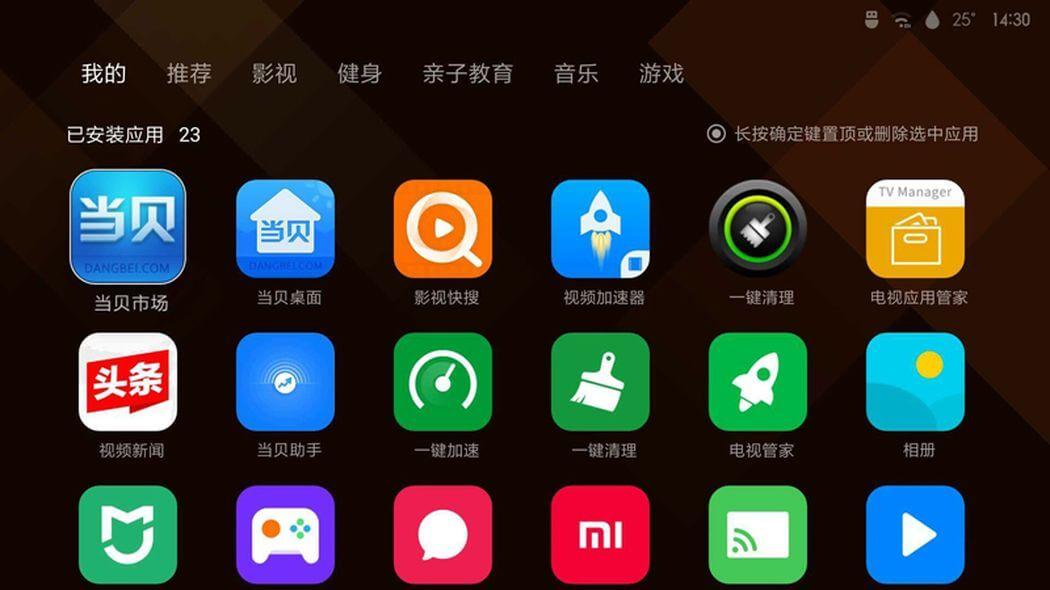 Xiaomi TYY01ZM, sistema operativo MIUI TV