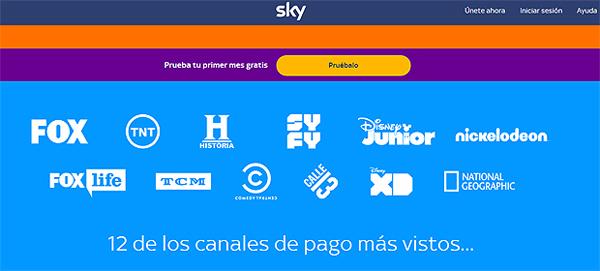 Este es el contenido de Sky TV