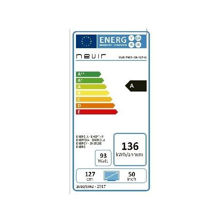 Consumo energético de Nevir NVR-7901-50-4K2-N