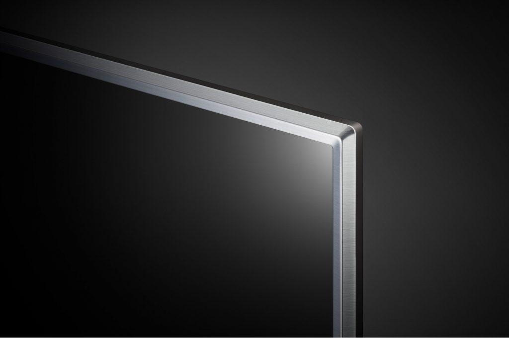 Estos son los marcos de la LG 49LK6100, plateados y con un acabado perfecto
