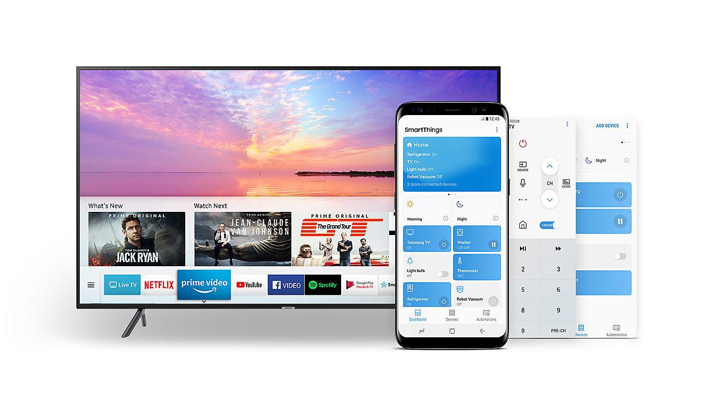 23fb6f7ae SmartThings es la app que engloba multitareas en esta Samsung 55NU7172
