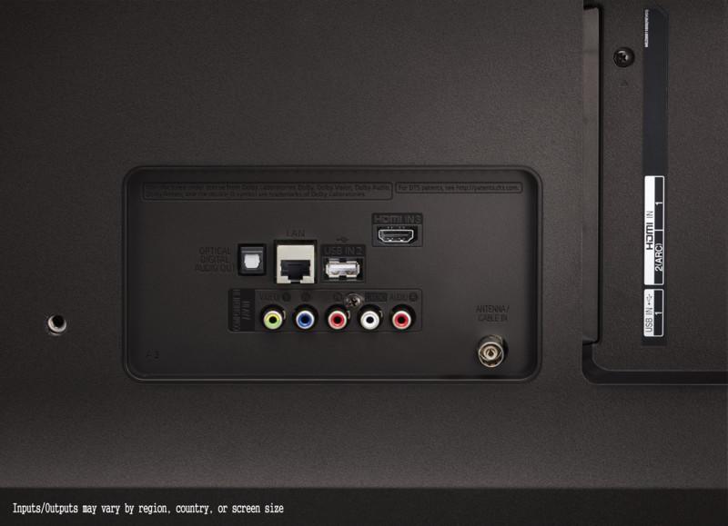 Aquí vemos algunas de las conexiones del LG 65UK6400