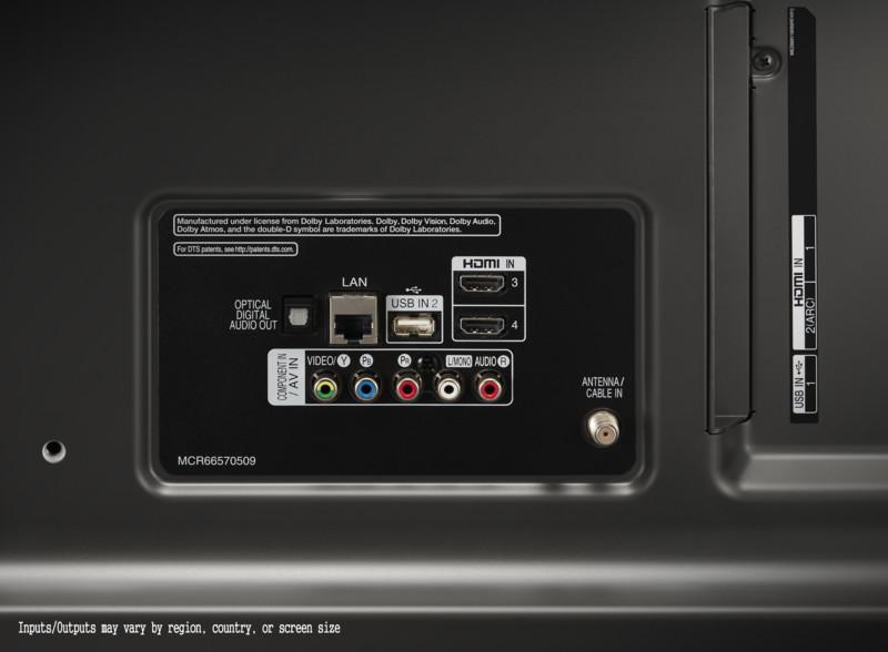 Algunos conectores físicos del televisor