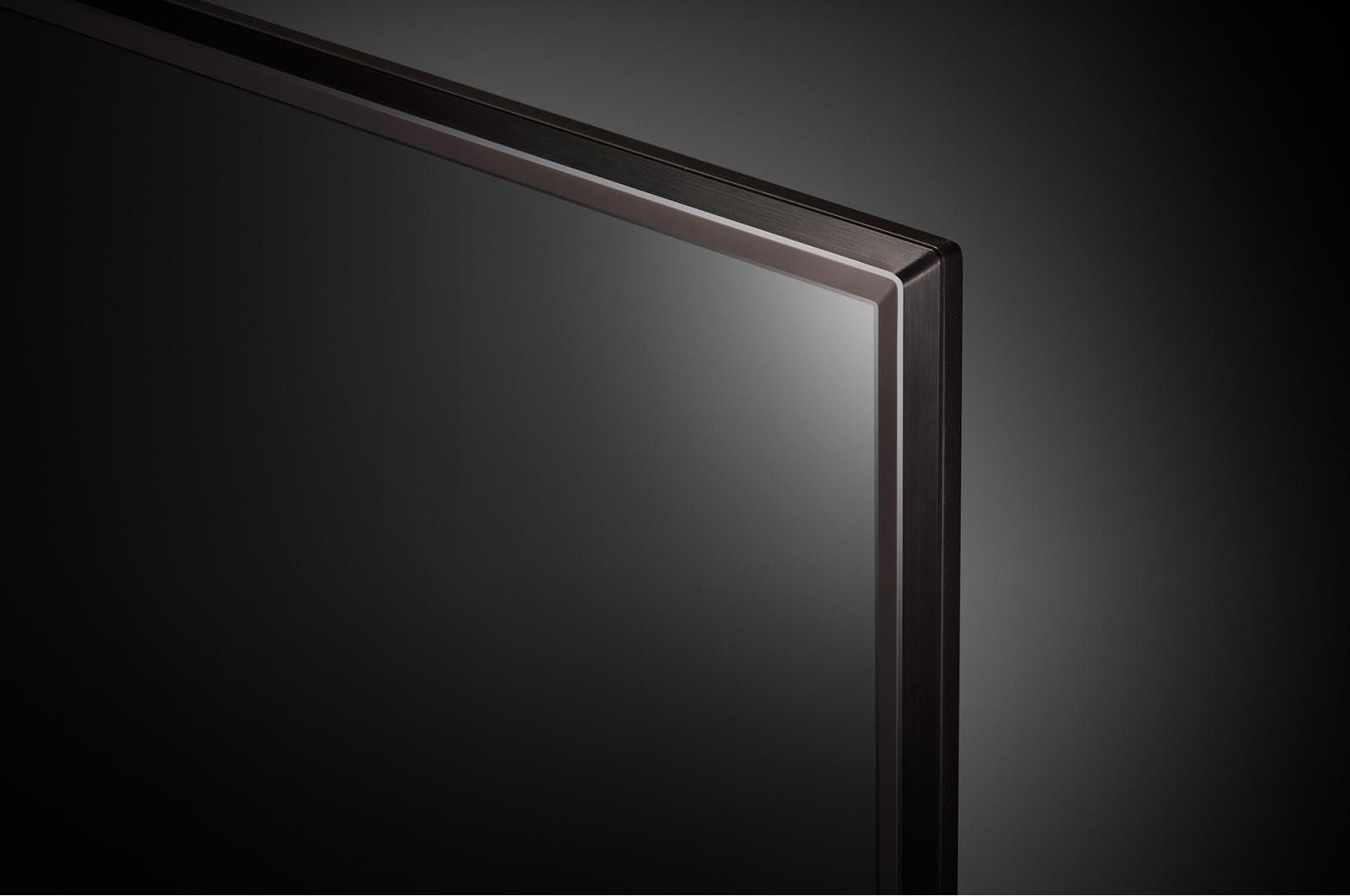 Aquí vemos los detalles de acabado de los marcos del LG 55UK6400
